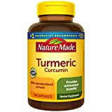 Nature Made Turmeric 500 mg Capsules, 120 Count for Antioxidant Support