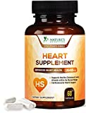 Heart Support Supplement - Extra Strength Heart Health Support Vitamins - Made in USA - Natural with CoQ10, Magnesium, and Powerful Nutrients for Men & Womens - 60 Capsules