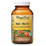 MegaFood, Multi for Men 55+, Supports Optimal Health and Wellbeing, Multivitamin and Mineral Supplement, Gluten Free, Vegetarian, 120 Tablets